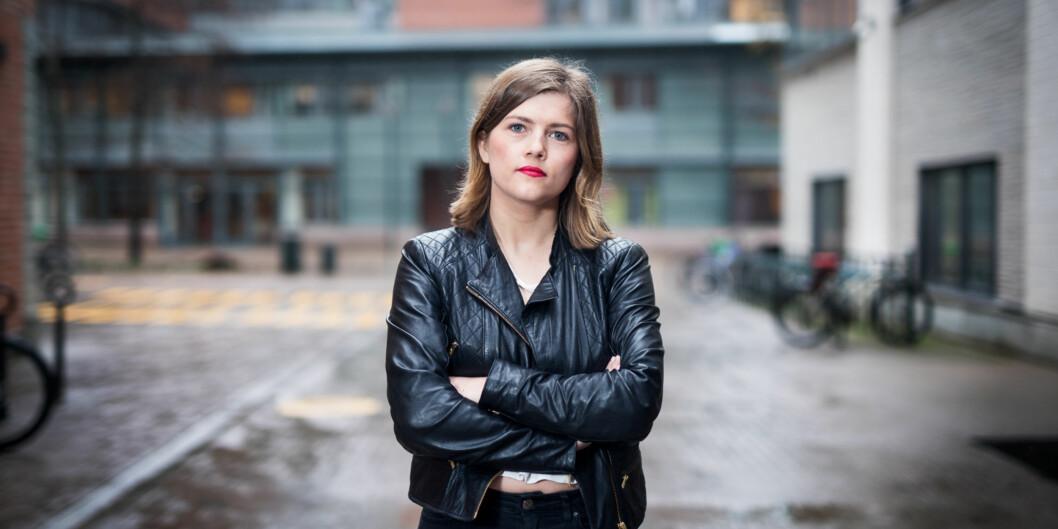 Sunniva Myrene Braaten stiller som ny leder av arbeidsutvalget i Studentparlamentet på HiOA. Foto: Skjalg Bøhmer Vold