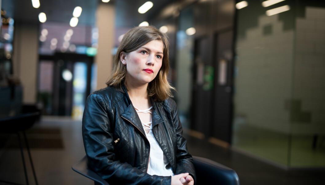 Leiar i Studentparlamentet, Sunniva Myrene Braaten, seier at studentane vil til nye campus Lillestrøm. Foto: Skjalg Bøhmer Vold