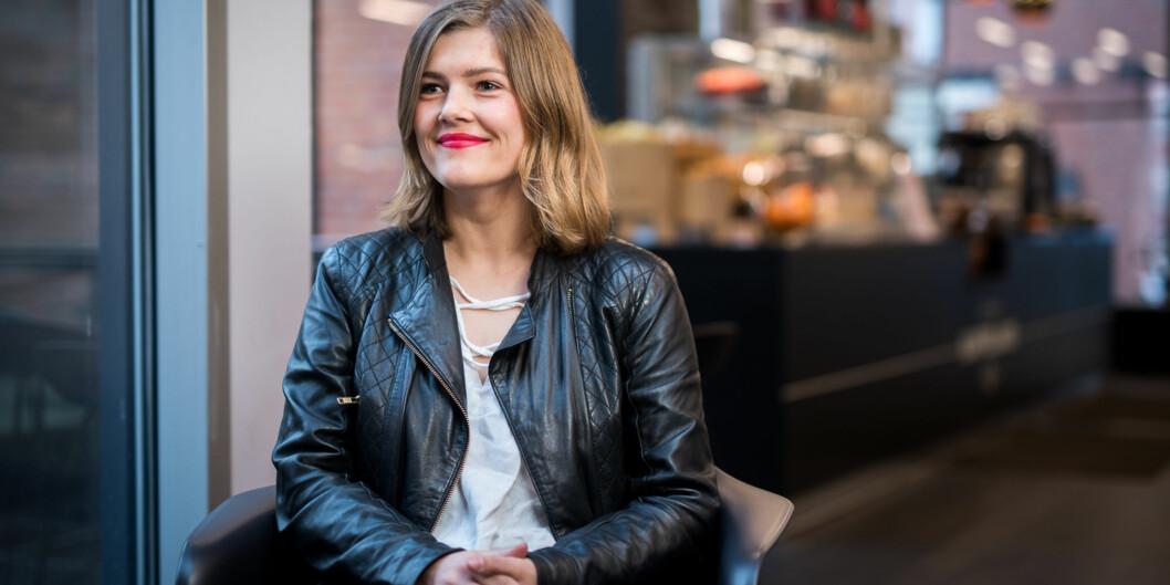 Sunniva Myrene Braaten er enstemmig innstilt til leder av arbeidsutvalget i Studentparlamentet ved Høgskolen i Oslo ogAkershus. Foto: Skjalg Bøhmer Vold