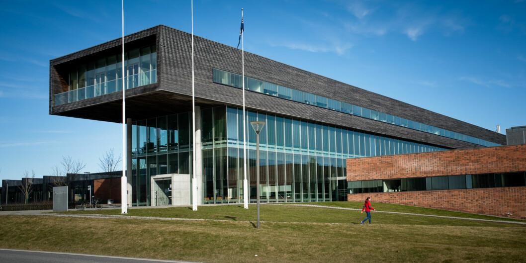 Studentene som forteller at de ble dopet ned, studerer ved Høgskolen i Østfold. Her representert ved Campus Halden. Det er ikke visst ved hvilket campus hendelsene skal ha funnet sted. Foto: Skjalg Bøhmer Vold