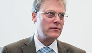 Andreas Snildal, Øystein Lund og Terje Mørland fra Nokut, på seminar om nye grunnskolelærerutdanninger på Gardermoen 16. februar.