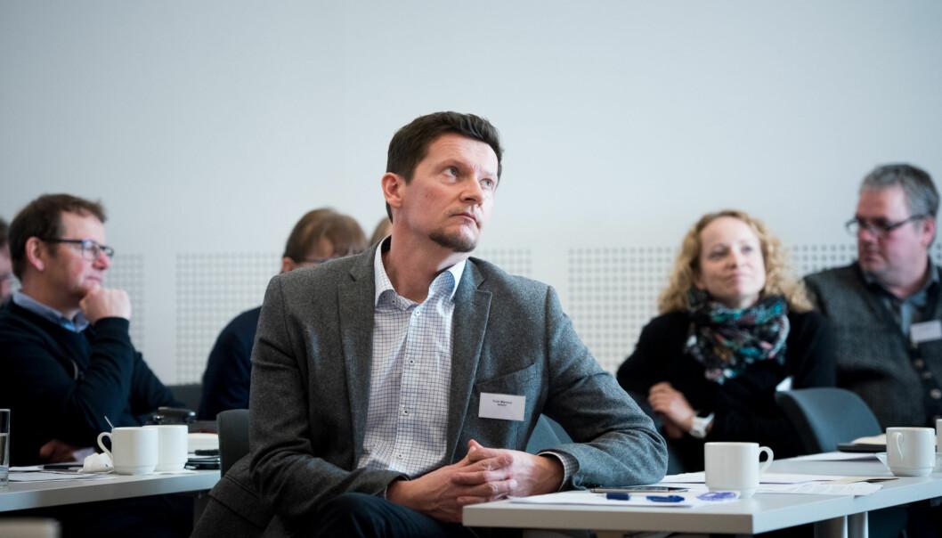 Direktør i Nokut Terje Mørland på seminar om nye grunnskolelærerutdanninger på Gardermoen 16. februar. Foto: Skjalg Bøhmer Vold