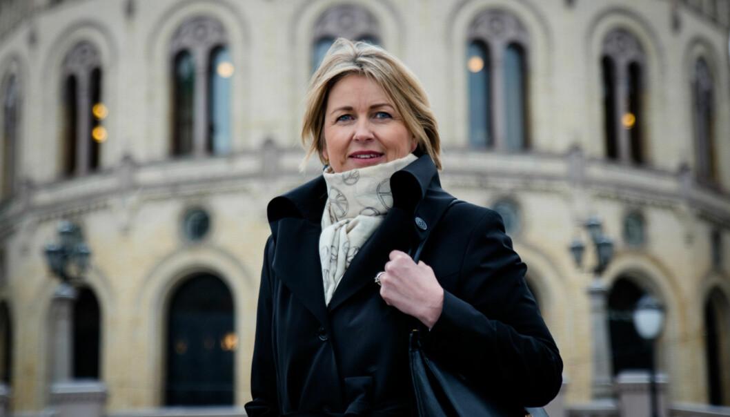 Kristin Vinje, høyrepolitiker og stortingsrepresentant i kirke-, utdannings- og forskningskomiteen på Stortinget. Foto: Henriette Dæhli