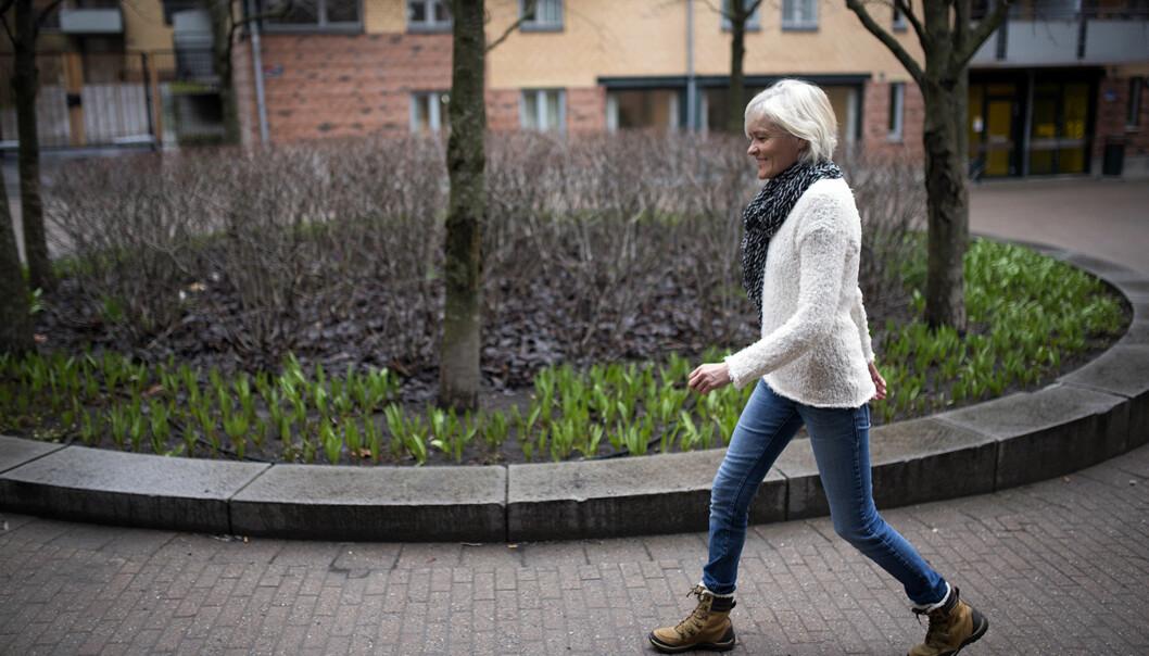 Den påtroppende toppdirektøren er rørt over mottakelsen hun har fått ved HiOA etter at hun fikk kreftdiagnose. — Jeg har til og med grått over det, sier Tone Irene Sandahl(50). Foto: Cicilie S. Andersen