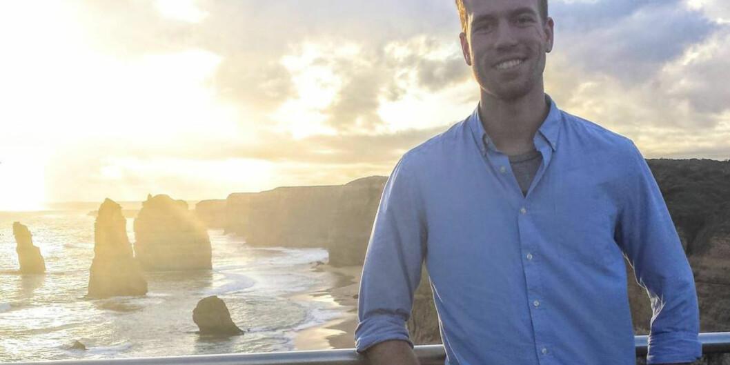"""Færre norske studenter reiser på utveksling. En student som har tatt valget om å reise ut er Kristian Elset Bø. Han studerer på <span class=""""caps"""">NTNU</span> og tar ett år av sin sivilingeniørgrad i Melbourne. Foto:Privat"""