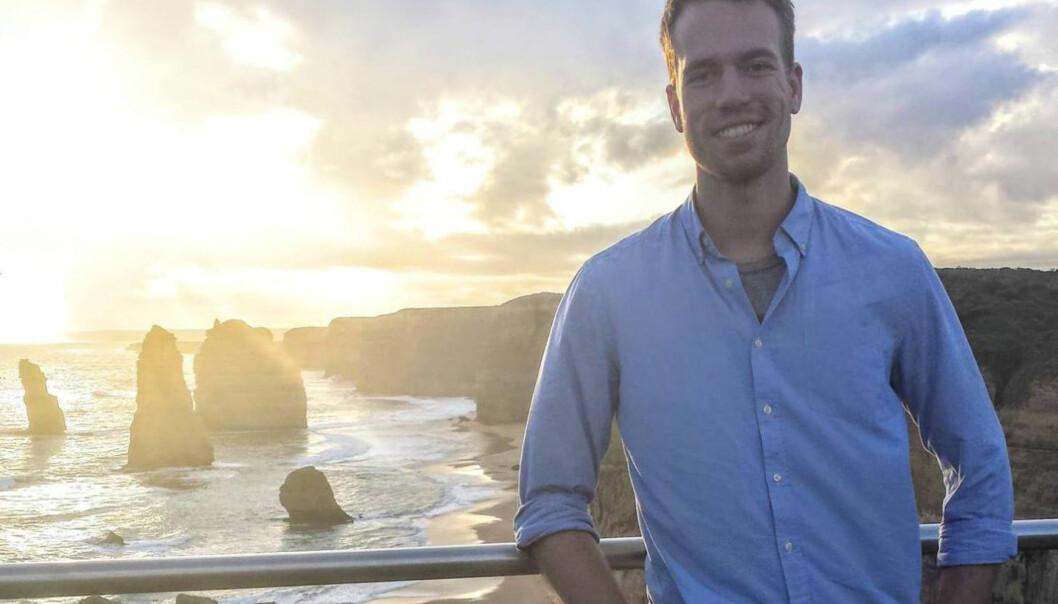 Færre norske studenter reiser på utveksling. En student som har tatt valget om å reise ut er Kristian Elset Bø. Han studerer på NTNU og tar ett år av sin sivilingeniørgrad i Melbourne. Foto:Privat