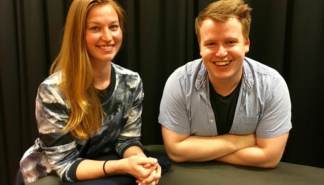 Anette Magnussen og Christoffer Alsvik har nå besluttet å ikke ta gjenvalg til Studentparlamentets arbeidsutvalg allikevel. Foto: ØysteinFimland