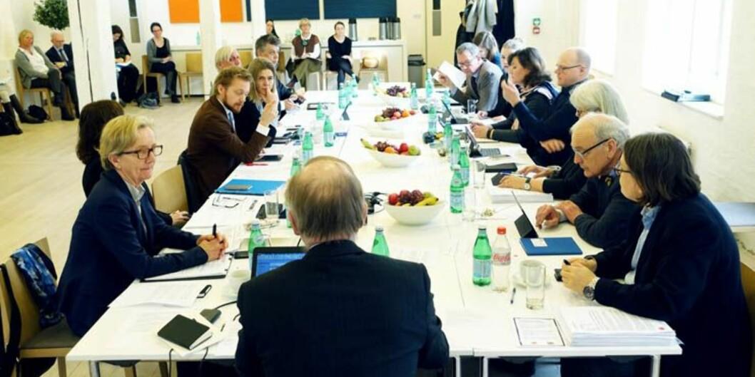 Styret ved Universitetet i Oslo diskuterte Underdal-utvalgets rapport i dag, som blant annet tar for seg valgt eller ansatt rektor. Foto. OlaSæther