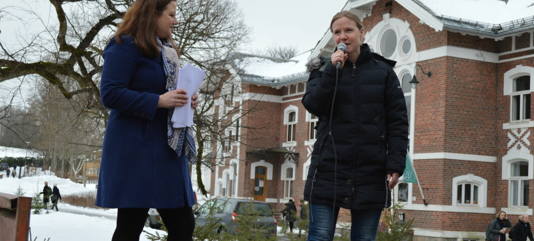 Over 100 deltakere på rektormarkering i Ås