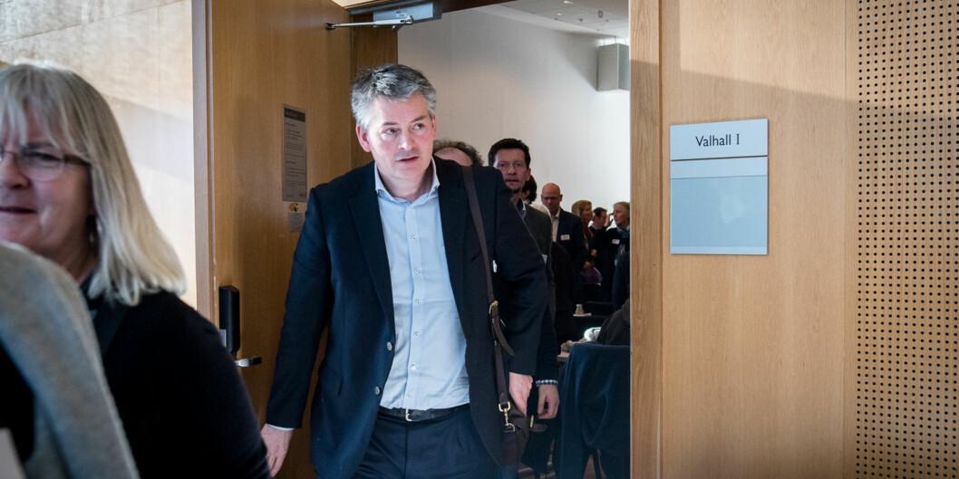 """Bjørn Haugstad støtter opp om administrative brev fra departementet og uttaler at det ikke kan herske noen tvil om at <span class=""""caps"""">NMBU</span> har ansatt og ikke valgtrektor. Foto: Skjalg Bøhmer Vold"""