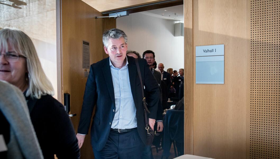 Bjørn Haugstad støtter opp om administrative brev fra departementet og uttaler at det ikke kan herske noen tvil om at NMBU har ansatt og ikke valgtrektor. Foto: Skjalg Bøhmer Vold