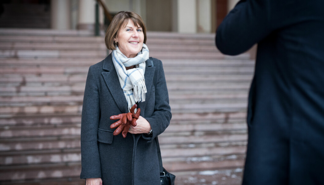 Rektor ved Høgskolen i Hedmark, Anna Linnea Ottosen, ønsker ikke å bli stående alene igjen som høgskole og haruniversitetsambisjoner. Foto: Skjalg Bøhmer Vold