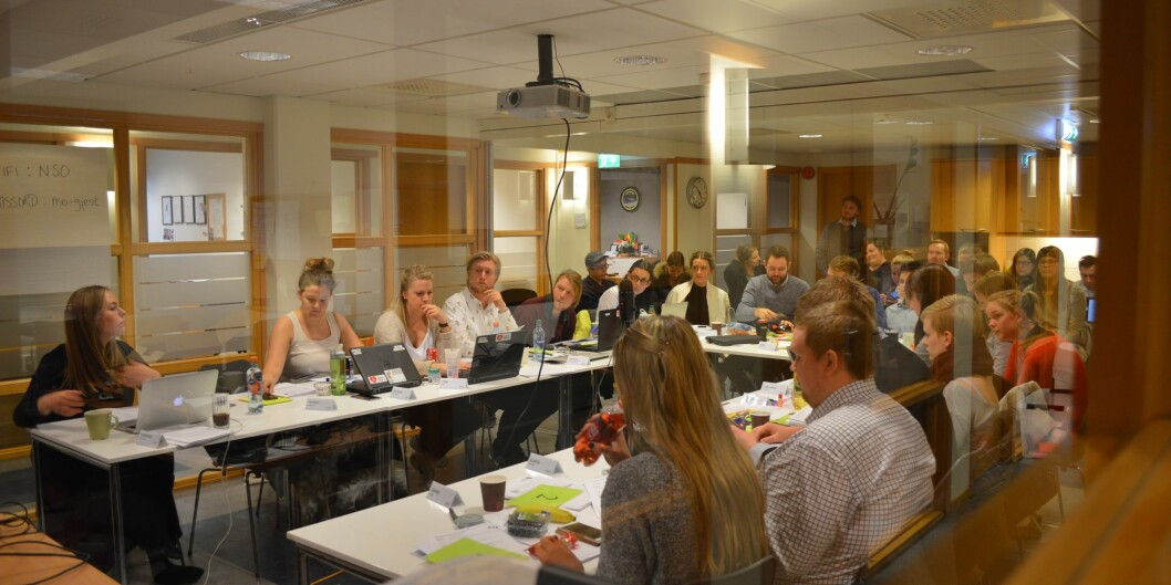 "Sentralstyret i <span class=""caps"">NSO</span> skal innstille saker til landsmøtet 21.-24. april. Foto: ØysteinFimland"