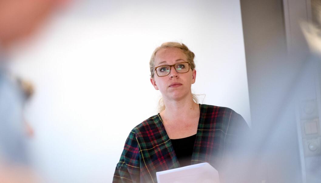 Studentombud ved Høgskolen i Oslo og Akershus (HiOA), Anita Tøien Johansen, mener at både studenter og tilsatte er fornøyde medombudsordningen. Foto: Skjalg Bøhmer Vold