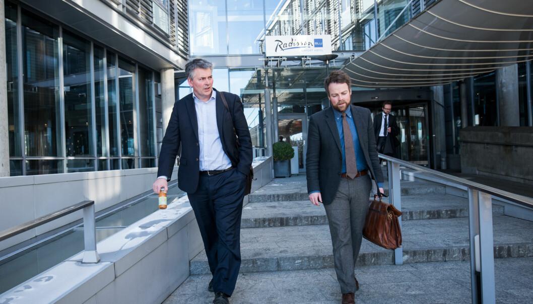 Statssekretær Bjørn Haugstad og kunnskapsminister Torbjørn Røe Isaksen. Arktivfoto: Skjalg Bøhmer Vold
