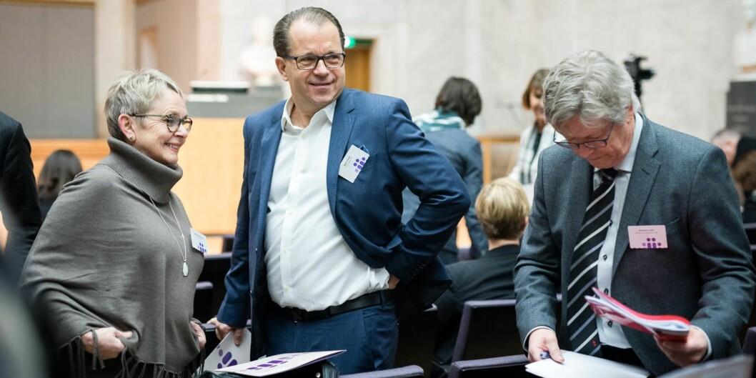 Rektor Bjørn Olsen er spent på søknadene til sju toppstillinger ved Nord universitet. Foto: Skjalg BøhmerVold