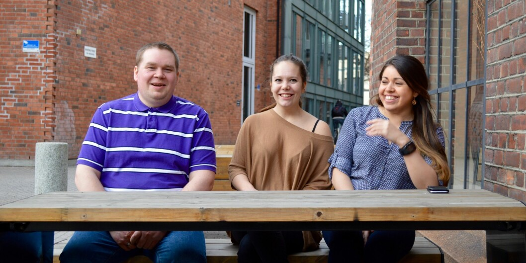 Bjørn Dinesen (HiN), Aurora Meland (UiT) og Denise Andrea Sobarzo (HiH) møttes i Oslo for å diskutere fusjonen av studentdemokratiene de er lederefor.
