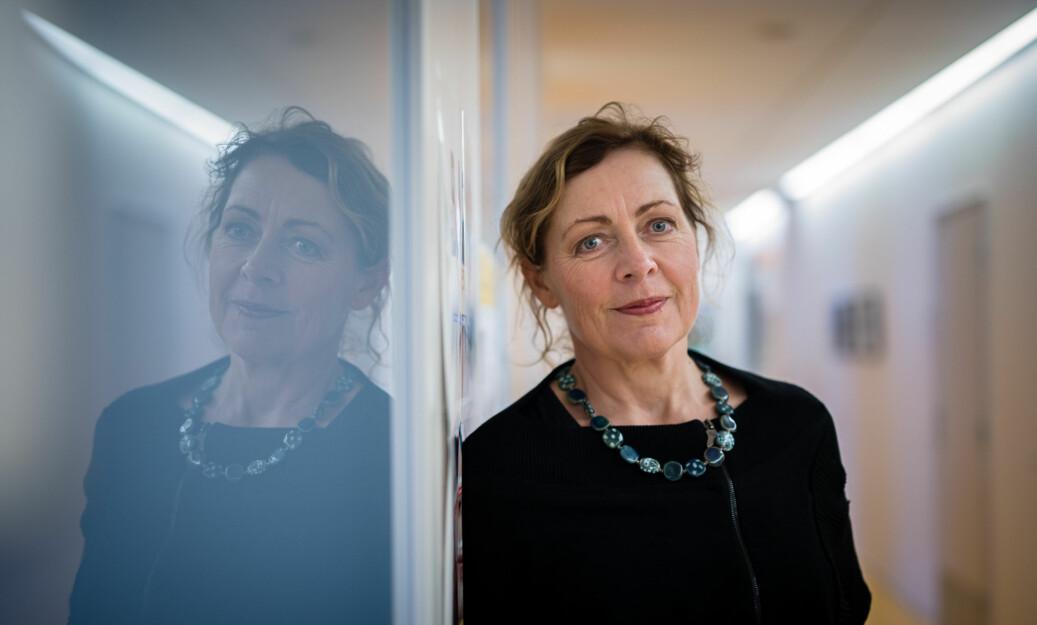 Instituttleder på sykepleie på OsloMet, Unni Hembre, mener saken som Cathrine Krøger omtaler er en gammel historie som ble tatt på alvor og håndtert etter OsloMets konflikt- og varslingsrutiner. Foto: Skjalg Bøhmer Vold