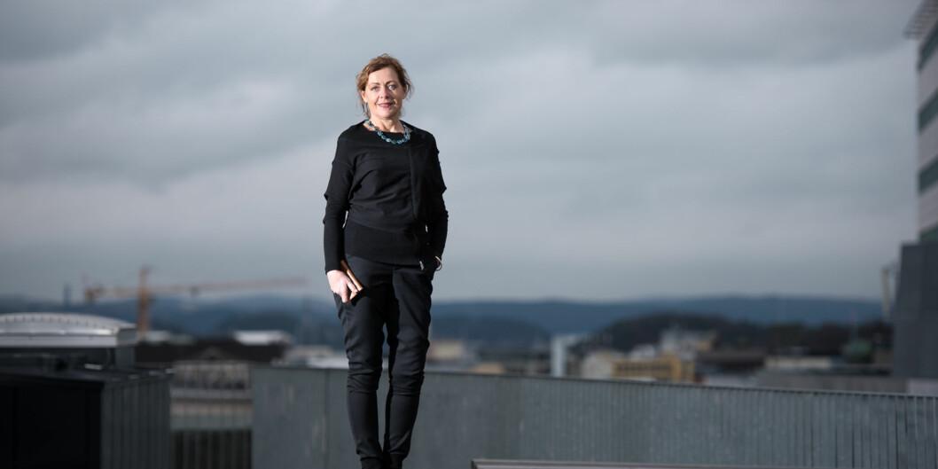 Unni Hembre er ny leder for det største instituttet på Høgskolen i Oslo og Akershus, Institutt for sykepleie og helsefremmendearbeid. Foto: Skjalg Bøhmer Vold