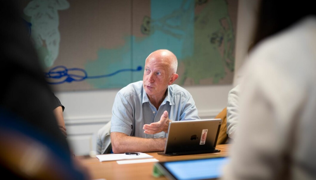 Anton Havnes (bildet), Oddgeir Osland, Sølvi Mausethagen og Hilde Afdal skriver om bakgrunnen for den nye meritteringsordningen for undervisere på OsloMet. Foto: Skjalg Bøhmer Vold