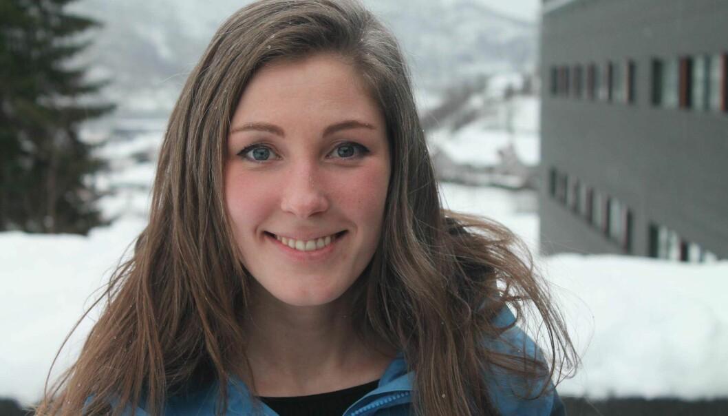 Ingrid Moe Albrigtsen melder sitt kandidatur til leder av Norsk studentorganisasjon. Foto: KristofferSkarstein