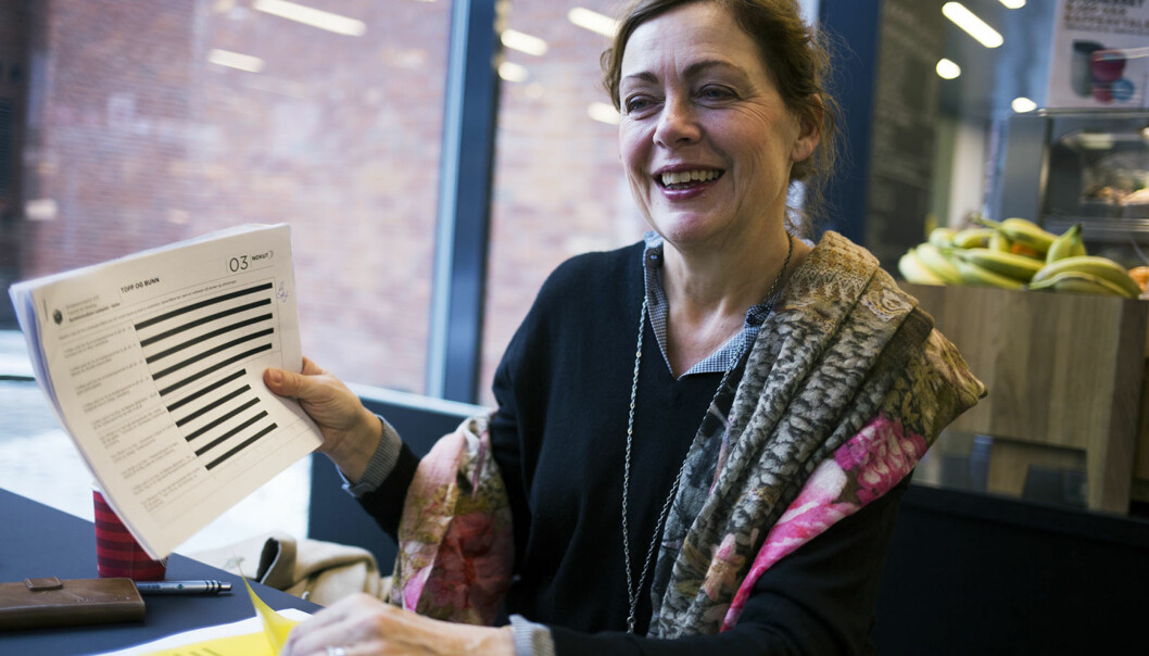 Instituttleder Unni Hembre er ny sjef for sykepleieutdanningene ved Høgskolen i Oslo og Akershus. Hun ser Studiebarometeret som et viktig verktøy for å se hva hun må ta tak i i den nyejobbem. Foto: Øyvind Aukrust