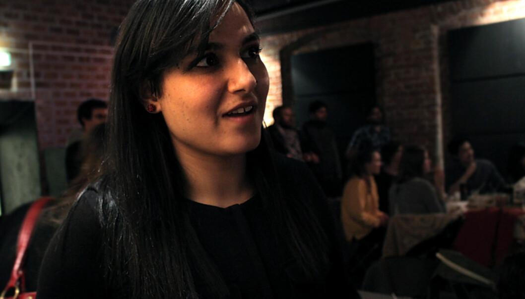 Hasina Shirzad hopes to get a master's degree in journalism. Foto: MajaLindseth