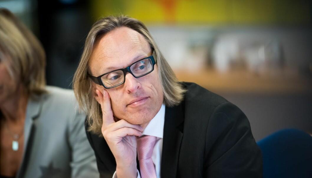 Morten Irgens, prorektor for forskning på OsloMet, søkte jobben for fire nye år, men styret valgt å ikke ansette i dag. Foto: Skjalg Bøhmer Vold