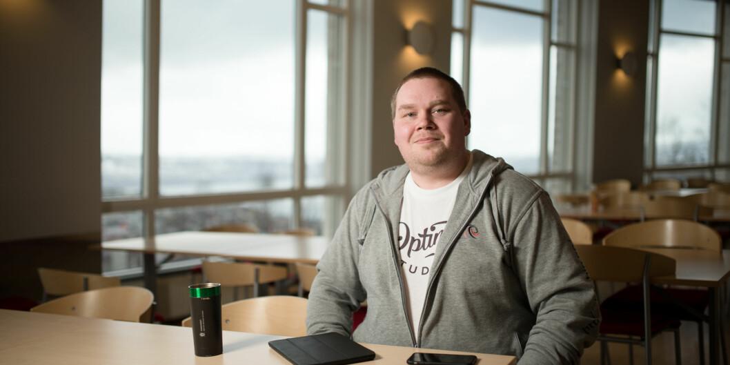 Bjørn Dinesen fra Høgskolen i Narvik melder sitt kandidatur til leder av Norskstudentorganisasjon. Foto: Skjalg Bøhmer Vold
