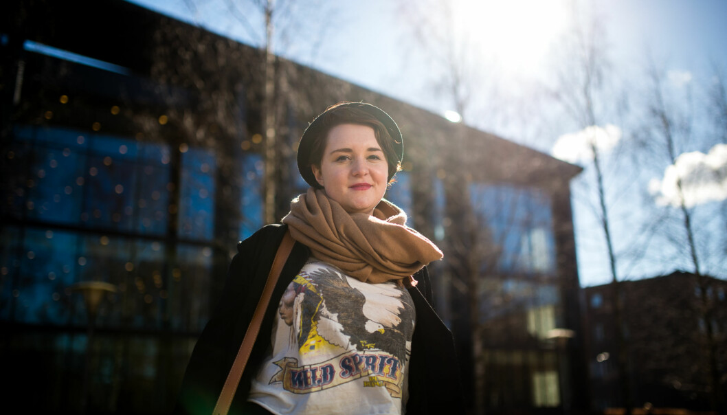 Student på Universitet i Oslo, Ingvild Stensrud, har dysleksi og har søkt og fått ekstrastipend på drøyt 3400 kroner i måneden fraLånekassen. Foto: Skjalg Bøhmer Vold