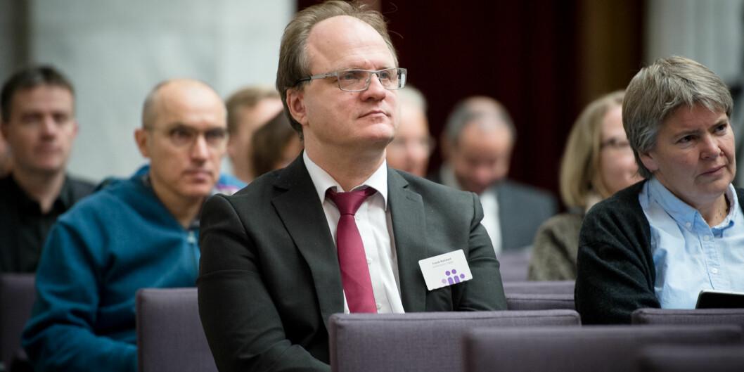 Rektor ved UiA Frank Reichert på Kontaktkonferansen 2016. Foto: Skjalg Bøhmer Vold