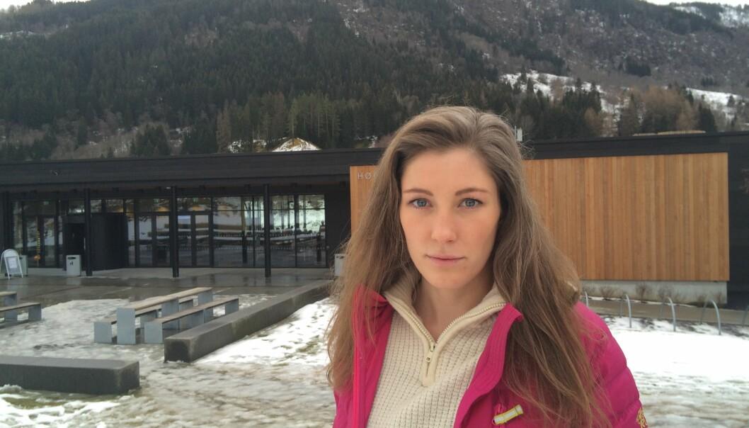 Studentleder Ingrid Moe Albrigtsen og studentene på Høgskulen i Sogn og Fjordane ønsker ikke å gå inn i fusjonsforhandlinger. Foto: MatsJahn