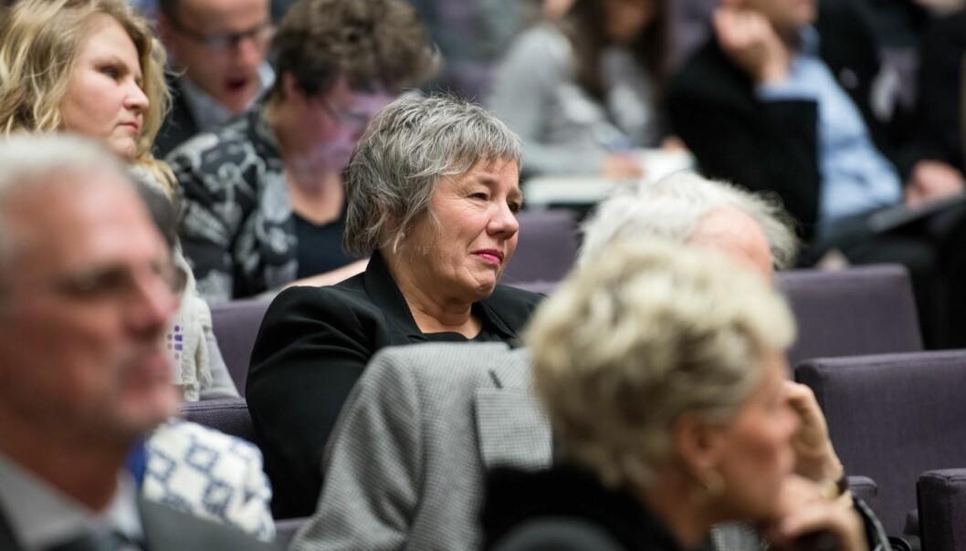 Kvinner oppfordres til å søke rektorstillingen ved den nyfusjonerte Høgskulen på Vestlandet. Rektor ved Høgskolen Stord/Haugesund, Liv Reidun Grismtvedt, er itenkeboksen.