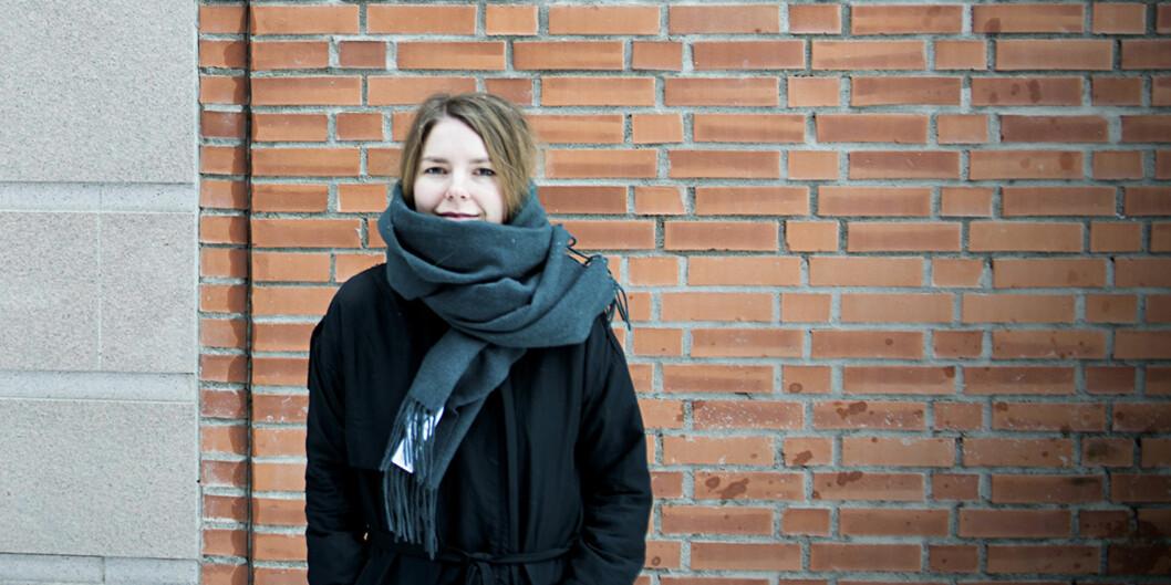 Katinka Hustad er en av tre studenter som gikk ut fra fotojournalistutdanningen ved Høgskolen i Oslo og Akershus som er nominert i fotokonkurransen Årets bilde2015. Foto: Cicilie S. Andersen