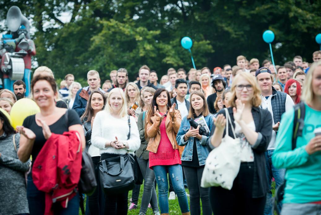 Studenter og faddere St. Hanshaugen i Oslo. Foto: Ketil Blom Haugstulen