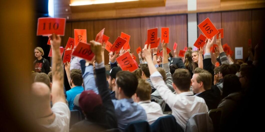 Delegater fra 33 ulike studentdemokratier ved norske universiteter og høgskoler skal velge sin nye nasjonale ledelse i april. Foto: Skjalg BøhmerVold