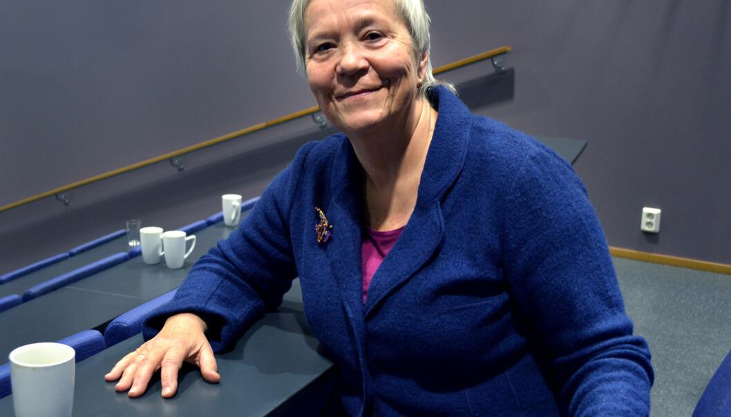 Rektor Kathrine Skretting (bildet) ved Høgskolen i Lillehammer snakker med sin kollega Anna L. Ottosen ved Høgskolen i Hedmark om det som kan bli en fusjon mellom deto.