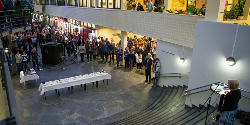 Høgskolen i Narvik fusjonerte med UiT Norges arktiske universitet i 2015. Her er UiT-rektor Anne Husebekk på besøk i Narvik. Foto: Espen Dalmo - 8thsession.com