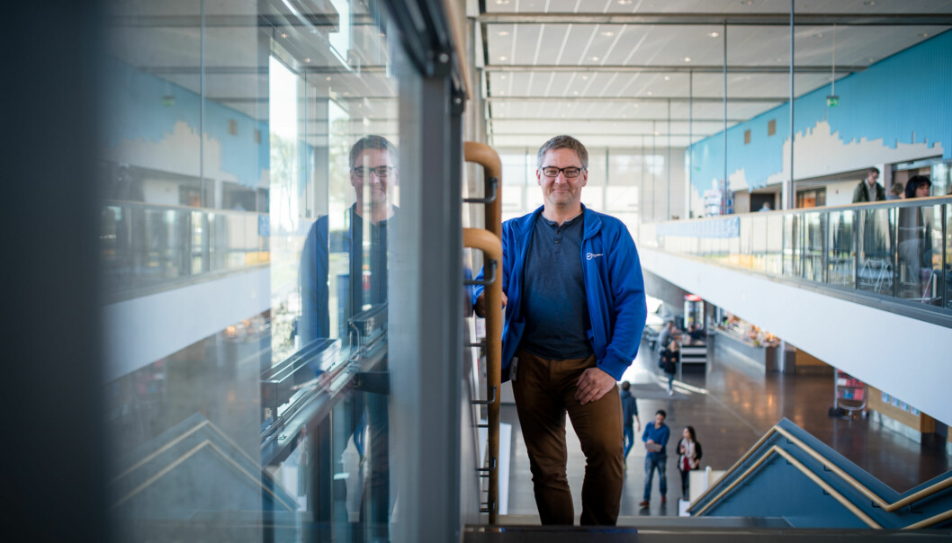 Studentleder Kristian R. Tornås ved Høgskolen i Buskerud og Vestfold sier at 1. januar 1016 blir en milepæl, men at det meste vil skjesenere. Foto: Skjalg Bøhmer Vold