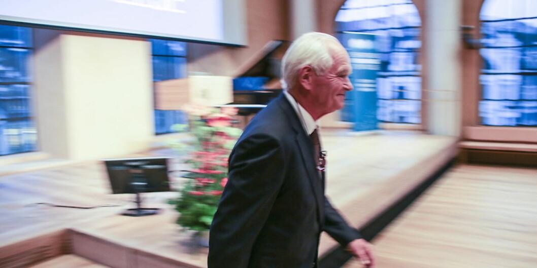 Trond Mohn var nylig den tredje som mottok Brøgger-medaljen. Han fikk den for sin gavmildhet overfor akademia. Han er også den som bidrar med mest gaver som statenforsterker. Foto: Dag Hellesund
