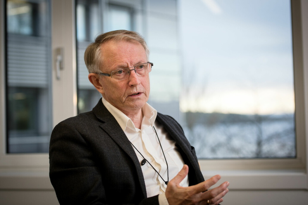 Styreleiar på HVL, Arvid Hallén, meinte det var viktig å få eit vedtak i saka om organisering. Foto: Skjalg Bøhmer Vold