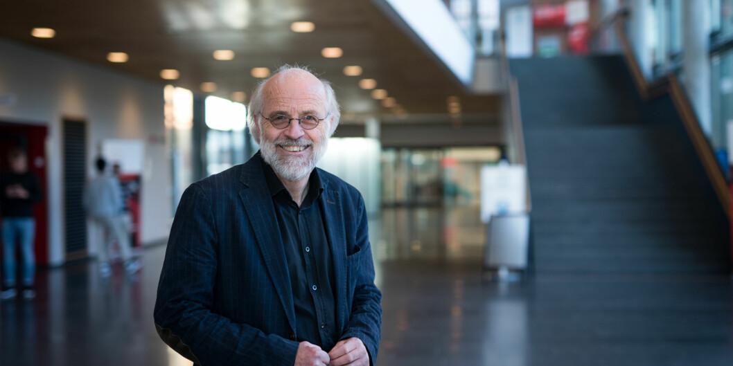 Rektor på Høgskolen i Buskerud og Vestfold (HBV) Petter Aasen på campus Bakkenteigen. Foto: Skjalg Bøhmer Vold
