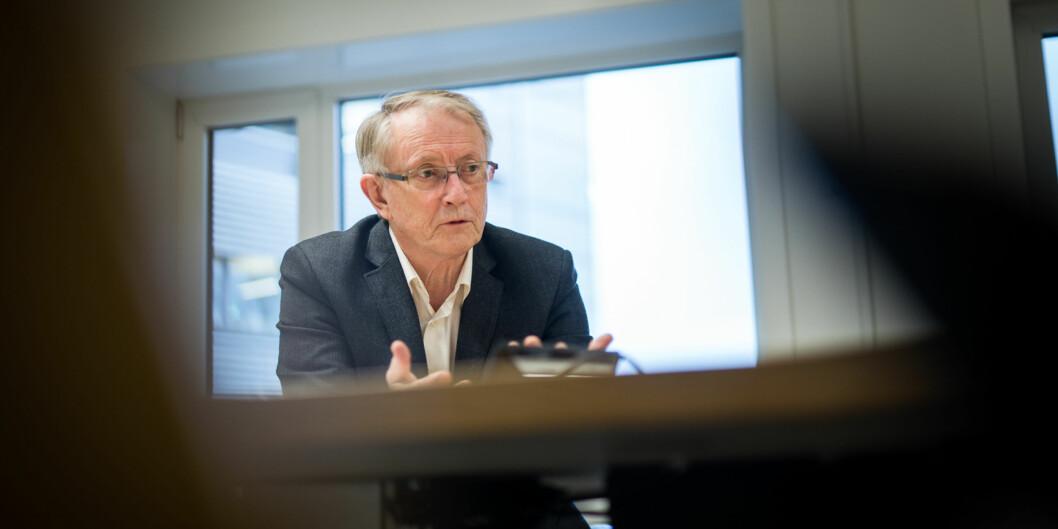 Styreleder Arvid Hallén ved Høgskulen på Vestlandet ønskes for en ny periode i styret. Foto: Skjalg Bøhmer Vold