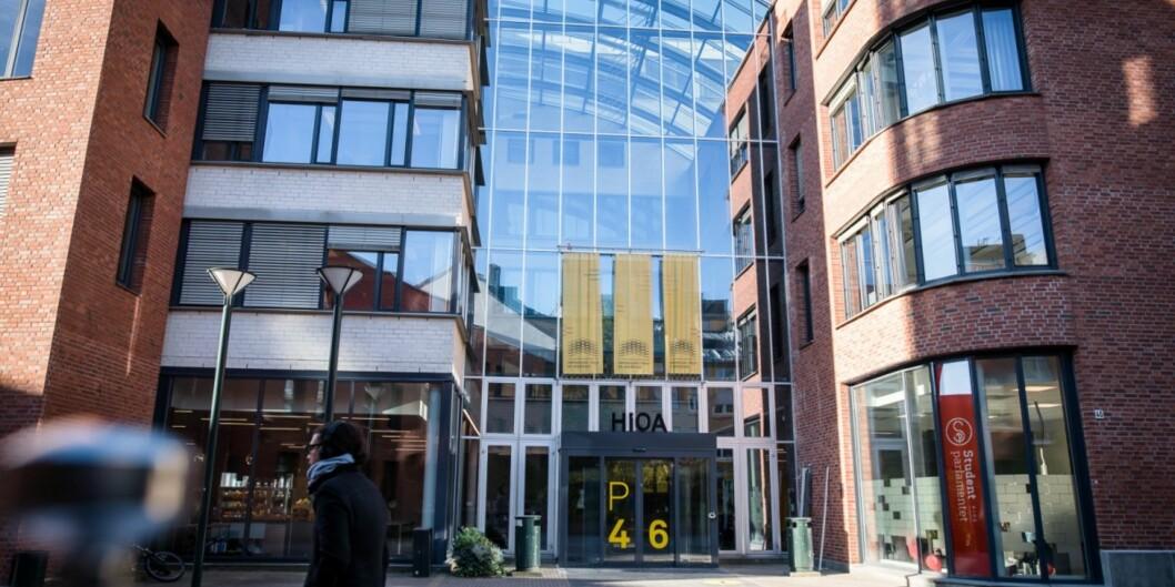 Administrasjonsbygget på Høgskolen i Oslo ogAkershus.