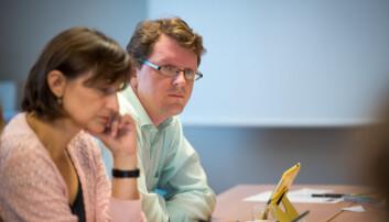 Tilsattrepresentantene Tatjana Radanovic Felberg og Bjørn Smestad under styremøte.