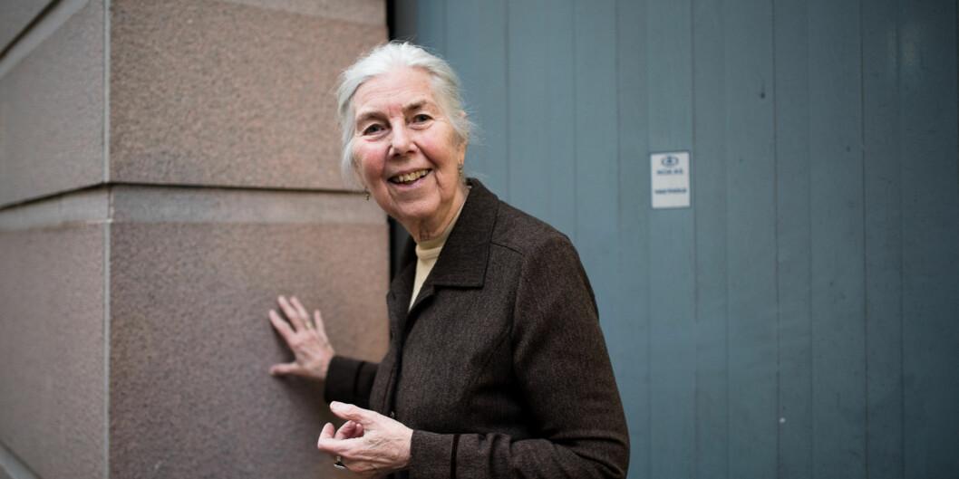Psykolog og psykomotorisk fysioterapeut Berit Heir Bunkan fylte 90 år i sommer. Foto: Skjalg Bøhmer Vold