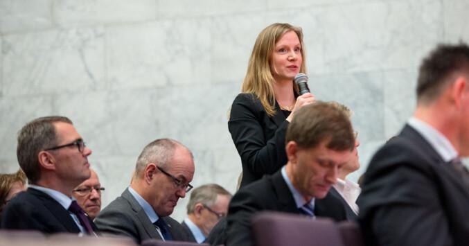 Rektor på NMBU og leder i Universitets- og høgskolerådet, Mari Sundli Tveit. Foto: Skjalg Bøhmer Vold