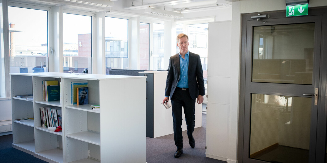 Rektor Curt Rice ved Høgskolen i Oslo og Akershus trenger penger til universitetssatsingen og vil kutte ned på overadministrasjonen vedhøgskolen. Foto: Skjalg Bøhmer Vold