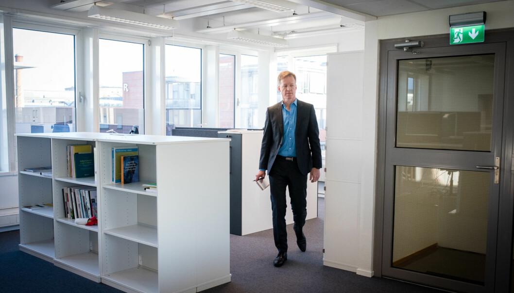 Rektor Curt Rice snur og fremmer ikke noe forslag for styret ved Høgskolen i Oslo og Akershus om å endre prodekanenes rolle påfakultetene. Foto: Skjalg Bøhmer Vold