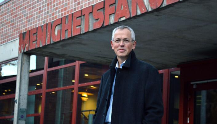 Vidar Haanes, rektor ved Det teologiske meningshetsfakultet (MF). Foto: Maja Lindseth